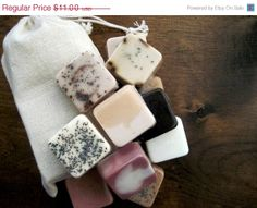 SALE Mini Soap Samples Coffee Earl Grey Chamomile door DavisMain, $9.35