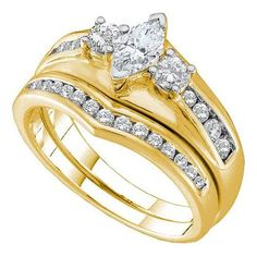 1/2CT-Diamond 1/5CT-CMQ BRIDAL SET