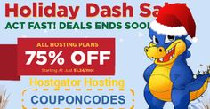 Happy Holidays from HostGator! 'Tis the season to celebrate with 75% off new hosting!