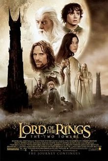 The Lord of the Rings: The Two Towers (2002) starring Elijah Wood, Viggo Mortensen, Ian McKellen, Sean Astin, Cate Blanchett, Orlando Bloom, Liv Tyler, John Rhys-Davies, Dominic Monaghan, Billy Boyd, Christopher Lee & Hugo Weaving