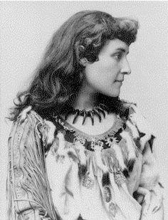 Emily Pauline Johnson  1861-1913  A Mohawk poet and entertainer