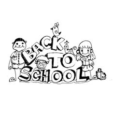 doodle kid back to school icon hand draw illustration design by Jaidee Family Style