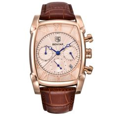 Cheap wristwatch brand, Buy Quality wristwatch military directly from China wristwatch mens Suppliers: Relogio Masculino Mens Watches Top Luxury Brand BENYAR Chronograph Leather Quartz Watch Men Military Sport Luminous Wristwatch Mens Watches Leather, Leather Men, Brown Leather, Sport Watches, Watches For Men, Men's Watches, Wrist Watches, Watches Online, Silver Watches