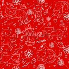 stock-illustration-8973525-children-pattern-with-cats.jpg (380×380)