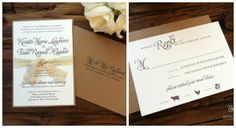 A rustic kraft wedding invitation