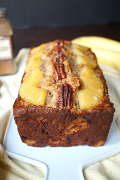 Give your banana bread a fresh spring makeover by adding pecans and pineapple! This Vegan Hummingbird Bread is super simple to make, one-bowl, and delicious!