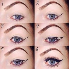 How to simple eyeliner! Your going to need a good liner! You've got to have the best eyeliner possible, not to expensive, not to cheap. This is the trick to get this everyday eyeliner! Eyeliner For Small Eyes, How To Do Winged Eyeliner, Smudge Proof Eyeliner, Winged Eyeliner Tutorial, Simple Eyeliner, Perfect Eyeliner, Best Eyeliner, Winged Liner, Eyeliner Liquid