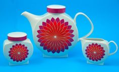 vintage Melitta tea set, designed by Axel Wolfgang