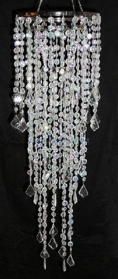 10 Inch Diameter Large Multi Diamond Cut Beaded Chandelier in Crystal  Find wholesale wedding and event decorations at Event Decor Direct.