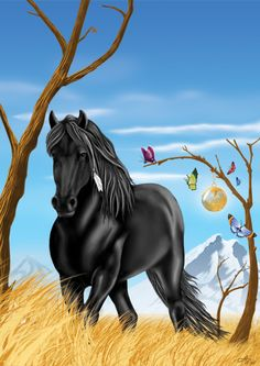 """Shaman """"You are more powerful than you realize. It is safe and good for you to be powerful. Cute Horses, Beautiful Horses, Magical Creatures, Fantasy Creatures, Animals And Pets, Cute Animals, Indian Horses, Horse Cards, Horse Wallpaper"""