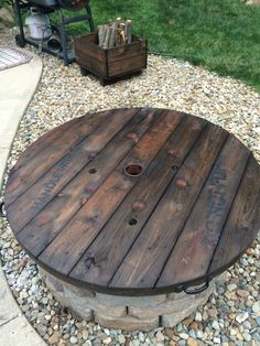 Fire Pit Cover And Firewood Box That Tim Made