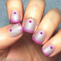 Nailpolis Museum of Nail Art | Holographic Thermal with studs by Amy McG