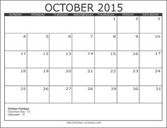 October 2015 Calendar Vertex42 - In this Post we're sharing latest Calendar Templates. Scroll Down the page and download Free October 2015 Calendar Template, Word,