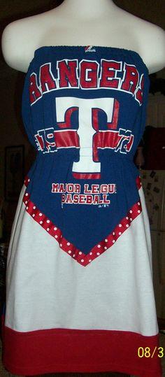 Texas Rangers Game Day Tee Shirt Dress - $55