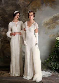 Eliza Jane Howell – Elegant art deco inspired wedding dresses - Home Page Vestidos Vintage, Vintage Dresses, Bridal Gowns, Wedding Gowns, Wedding Blog, Art Deco Wedding Dress, Gatsby Wedding Dress, Art Deco Dress, Dresses Uk