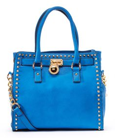 Look at this Blue Office-Chic Tote on #zulily today!
