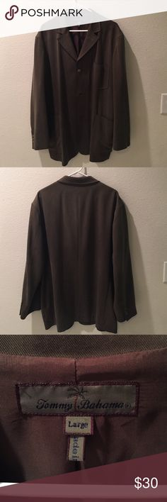 Tommy Bahama Dark Green Silk Jacket Lightly worn, dark green Tommy Bahama jacket. A light, nice jacket perfect for a cool evening out. 100% silk shell. Tommy Bahama Jackets & Coats