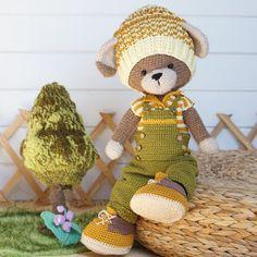 Clothes toy crochet pattern PDF Outfit for Bunny Cat Dog Toys - Outfit Farmboys Knitting Patterns, Crochet Patterns, Toy Puppies, Crochet Instructions, Bunny Toys, Yarn Brands, Boy Photos, Crochet Basics, Photo Tutorial