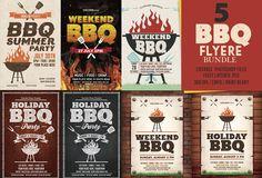 BBQ Flyer Templates Bundle by DesignWorkz on @creativemarket