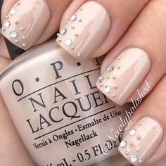 neutral nails with bling.. love it