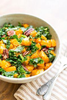 Roasted Butternut & Kale Bowl // The Gantzery
