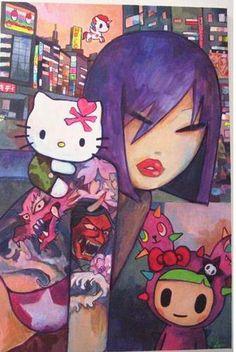 Hello Kitty Art Print by Simone Legno