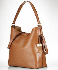 Lauren Ralph Lauren Handbag, Tate Hobo - Lauren Ralph Lauren - Handbags & Accessories - Macy's