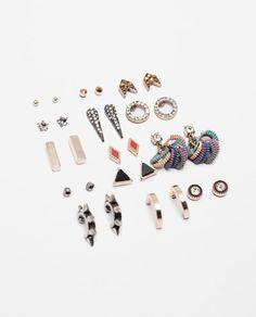 Image 1 of PACK OF SUMMER EARRINGS from Zara