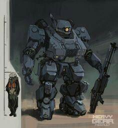 Heavy gear mech