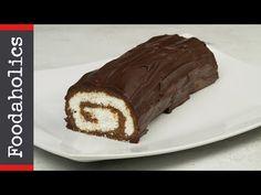 Ένα λαχταριστό μπισκοτένιο Ελβετικό Ρολό (Swiss Roll) χωρίς ψήσιμο. Μια απλή, εύκολη και γρήγορη στη παρασκευή της συνταγή για να απολαύσετε ένα Diwali Decorations At Home, Sweet Recipes, Deserts, Cooking Recipes, Sweets, Cookies, Xmas Cakes, Ferrero Rocher, Sweet Dreams