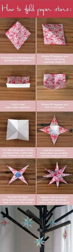 How to Fold Paper Stars.