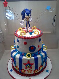 Sonic the Hedgehog Cake - Tristan's birthday cake this year - hope I can do it justice...