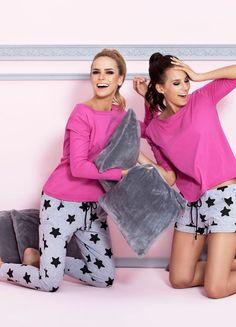 Piżama w gwiazdki PIGEON / Pajamas in stars PIGEON/ 99,90 PLN #pyjamas #stars #pizama #bielizna_nocna #nightclothes #pigeon