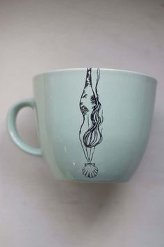 Diving Mermaid Mug in Mint