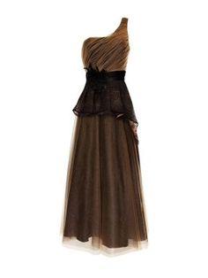 Aftershock Tyronna one shoulder maxi dress Brown - House of Fraser