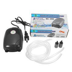 Aquarium Fish Tank Air Pump ACO-9601 3.2L/min For Fish Tank Super Silent 5w +line tubing+ air stone