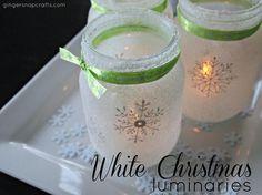 #Christmas luminaries from Ginger Snap Crafts #MarthaStewart #MichaelsStores