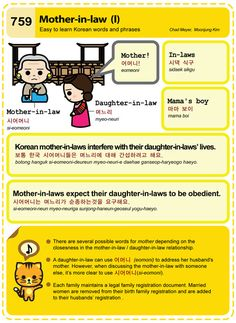 759 Easy to Learn Korean: Mother-in-law (I)