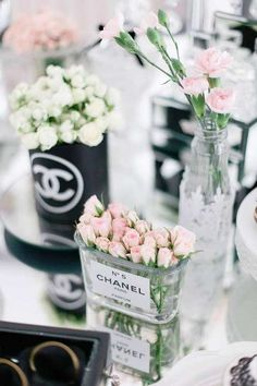 Chanel Luxury Birthday Party Ideas Photo 3 of 29 decoration luxery event flowers beautiful idea roses ros pink blumen dekoration Chanel Party, Chanel Birthday Party, 30th Birthday Parties, Wedding Parties, Chanel Decor, Rosa Rose, Ideias Diy, Deco Floral, Vintage Floral