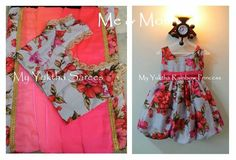 Simple floral matching outfit for mother and daughter