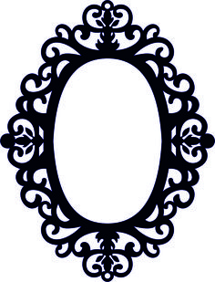 Frames For Mirrors – Amee House Silhouette Frames, Silhouette Design, Mirror Vector, Molduras Vintage, Diy And Crafts, Paper Crafts, Frame Template, Borders And Frames, Scroll Saw Patterns