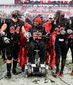 """""""You can best believe I'll never give up and I will rise from this chair and I'm gonna be walking all over this world, dancing, having a great time."""" - Eric LeGrand"""
