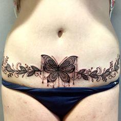 Tummy Tuck Tattoo Cover Up Tummy Tuck Scar Tattoo, Scars Tattoo Cover Up, Tummy Tuck Scars, Scar Cover Up, Belly Tattoos, Stomach Tattoos, Body Art Tattoos, Hindu Tattoos, Tatoos