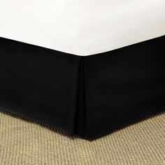 Mainstays Solid Bed Skirt, 1 Each, Black Striped Bedding, Black Bedding, White Bed Skirt, Black Twins, Twin Xl Bedding, Home Goods Store, Teenage Girl Bedrooms, Thing 1, Beds For Sale