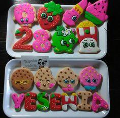 #shopkinscookies de mi birthday! ❤ #mycookiecreations #im28 #shopkinscookies #shopkinsbirthday #shopkins #shopkinscake #shopkinscakepops #kookycookie