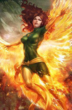 Marvel Girl/Phoenix  Name - Jean Grey  Husband - Cyclops (Scott Summers)  Children - Rachel Summers & Nathan Summers -adopted-(Cable)  Grandchild - Hope Summers  Team - X-Men & Hellfire Club