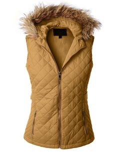 LE3NO Womens Quilted Puffer Jacket Vest with Detachable Hoodie $29.24 = over knit or plaid flannel.