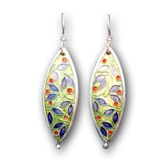 love the shape, enamel and the way she etched the shape prior to cloisonne work.
