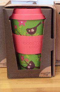 GreenPicnic Ecoffee cup, bamboe koffiebeker Widdle Birdy