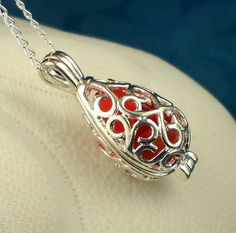 Your place to buy and sell all things handmade Sea Glass Necklace, Sea Glass Jewelry, Pendant Necklace, Pretty Box, Vintage Gowns, Bridal Bouquets, Ruby Red, Sterling Silver Chains, Handcrafted Jewelry